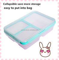 Silicone adult lunch box food container with lock