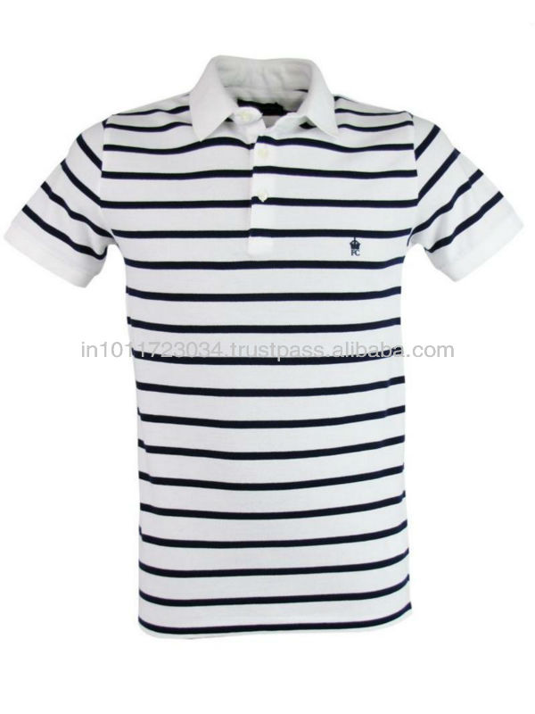 YARN DYED STRIPED POLO T-SHIRTS UNISEX