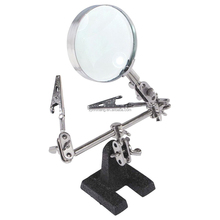 Helping Hand Auxiliary Clamp Alligator Clip Stand 2.5X magnifying glass