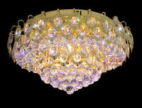 Cheap Gold K9 Crystal LED Kitchen Ceiling Lights
