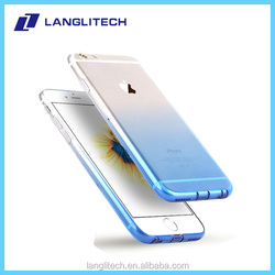 Ultra thin phone cover case for iPhone 6 plus tpu The gradient color