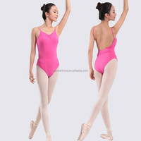 11514109 Camisole Low Back Ballet Leotards Yellow dance wear activewear
