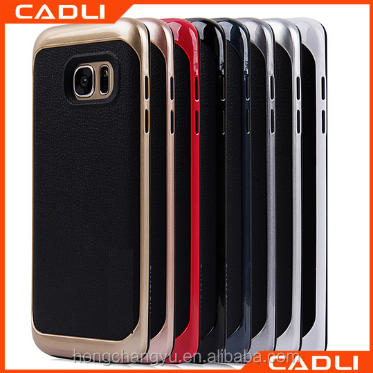 China wholesale motomo PC and leather full protective case cover for Samsung S7