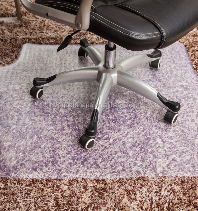 "48"" x 36"" PVC Chair Floor Mat For Thick Carpet Protector"