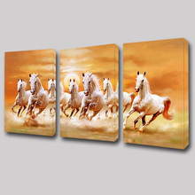 Mondern 3 Panels Painting Horses Design Wall Canvas Art Decoration