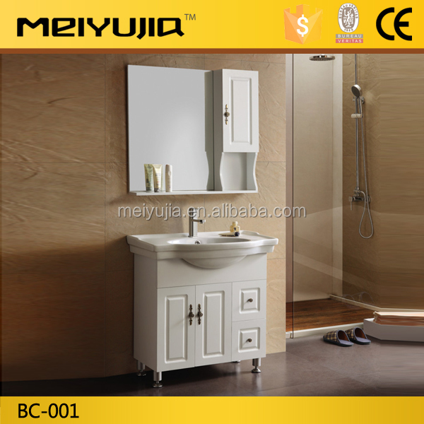 Saudi arabia design floor mounted pvc bathroom cabinet for Aluminum kitchen cabinets saudi arabia