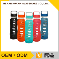 Wholesale Custom BPA free Antibacterial Souvenir Glass Water Bottle
