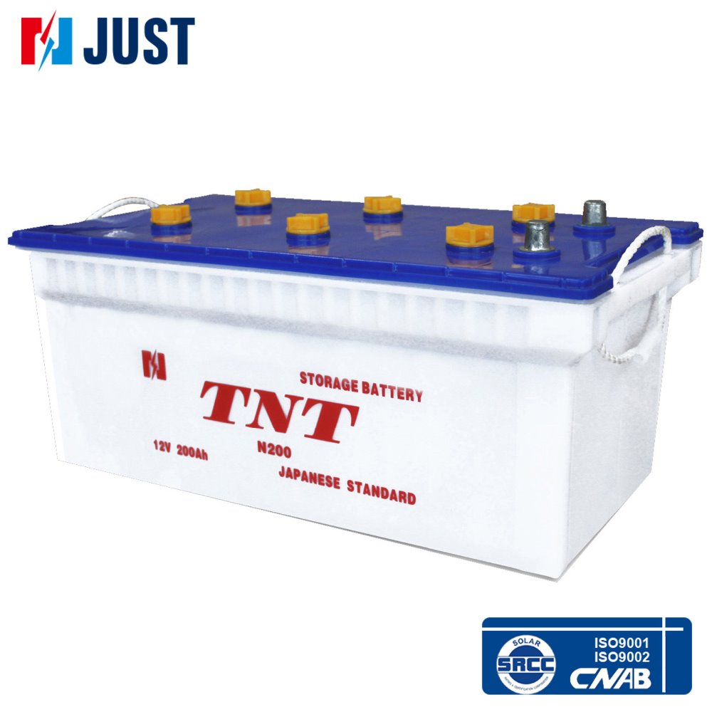 rechargeable automotive dry battery 12v 200ah