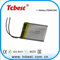 Latest technology 402030 Rechargeable lithium polymer battery / Flat cell lithium ion battery