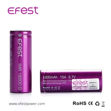 High Quality 18500 18650 battery , Mod 18500 Li ion battery , Efest 18500 1000mah Rechargeable Battery