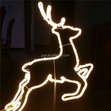 Nice factory price festival christmas outdoor elk decorative neon rope light