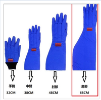 Anti low temperature cryogenic liquid nitrogen glove