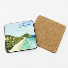 Wholesale Cork Back MDF Wooden Table Coasters