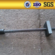 Screw threaded steel bars, ground screw post anchors, rock bolt