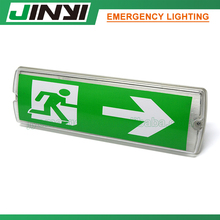 High quality Exit Sign Emergency Light 8W Maintained Led Bulkhead IP65 Anti Vandal Proof
