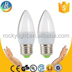 High quality plastic led candle lamp/led candle bulb/led candle light