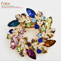 Fashion metal jewelry brooch for women