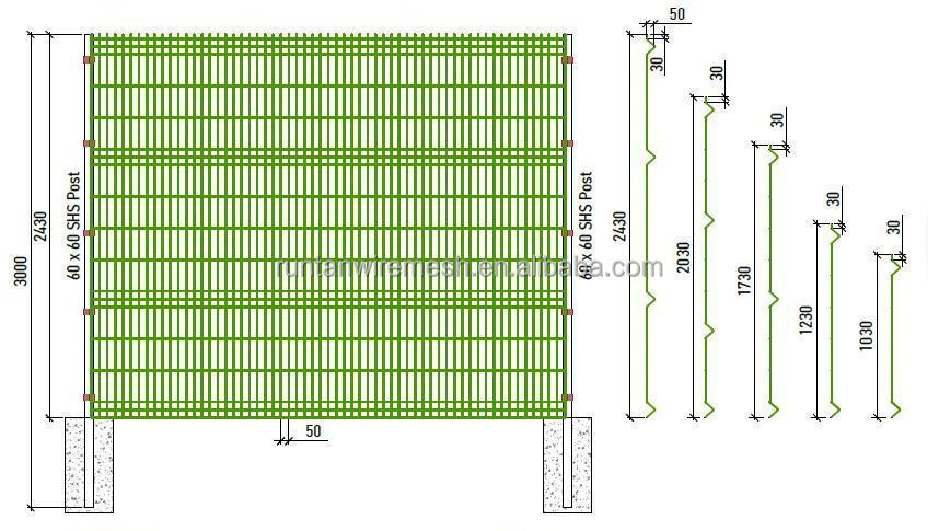 D pvc coated welded wire mesh fence panel buy