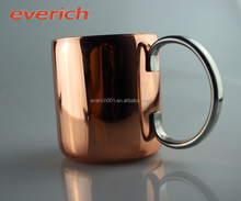 Manufacturer Moscow Mule Copper Mug Copper Plated Stainless Steel Mug Beer Drinking