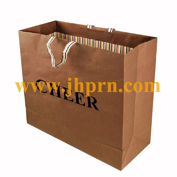 Paper bag printed double sides