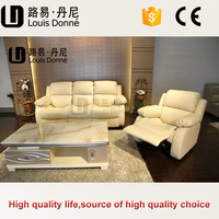 Shenzhen factory price good quality silver leather sofa