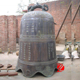 Chinese style antique bronze temple bell