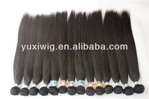 2017 new products high quality 100% human hair 100g/pc natural color brazilian hair extension