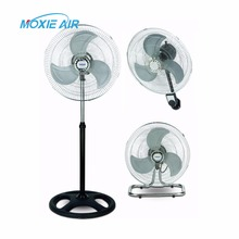 18 inch electric industrial stand fan metal pedestal industrial floor fan