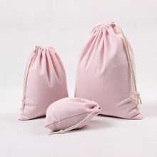Hot sell eco friendly small cotton drawstring cotton pouch bags
