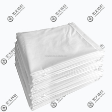 wholesale CVC plain white T180 standard size hospital and hotel cheap bed sheets