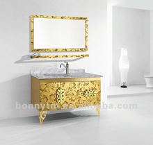 gloden floor mounted modern stainless bathroom vanity new 2012 products