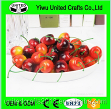 2016 best cheap price artificial fruit fake cherry for decoration for wholesale