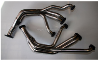 Customized manifold exhaust header for V8 jeep