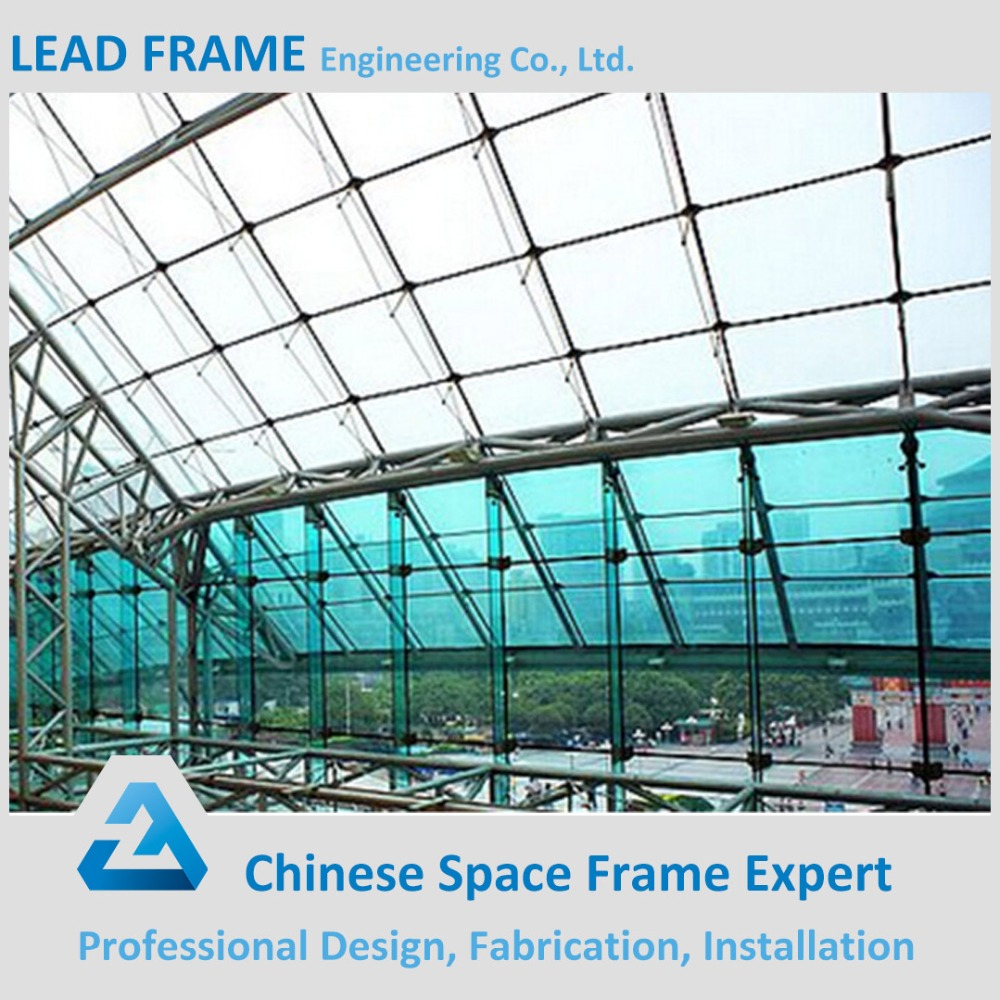 Attractive best selling steel structure glass curtain wall
