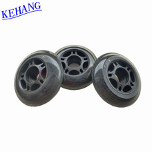 Manufacturer supply PU material 64mm quad roller skate wheel with 5 starts for inline skateboard owned SGS certification