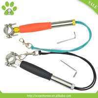 Walking dogs hands free, metal chain dog leash, reflective dog leash