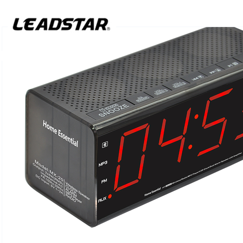 Home Hotel LED Alarm Clock Radio with USB Charger Charging For Mobile Phone