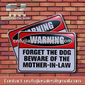 warning attention metal sign , wall decor sign