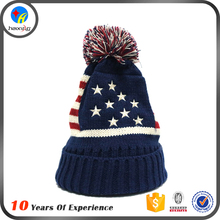 Customized Low Price Acrylic Wool Blend Beanie Knitted Hats
