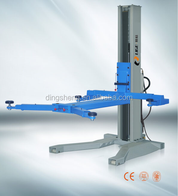 Single Post Design and One Cylinder Hydraulic Lift Type car washing lift