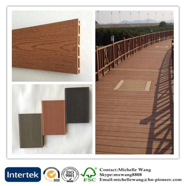 Waterproof commercial domestic use hollow wood plastic composite, wood plastic composite products, wood plastic composite board
