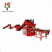 Siemens motor HBY4-10 small soil earth clay mud cement interlocking brick making machine price in Malaysia