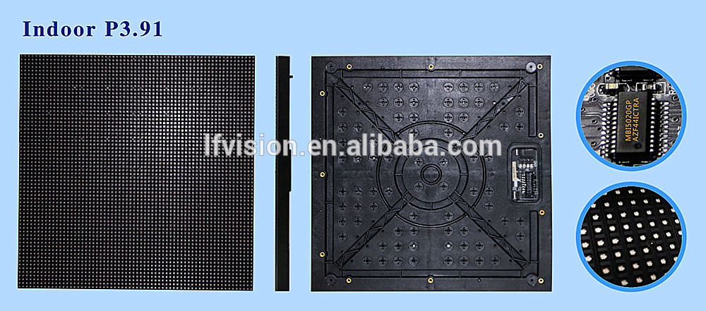 china high quality p3.91 stage background high resolution led displays /indoor p3.91 HD rental video wall