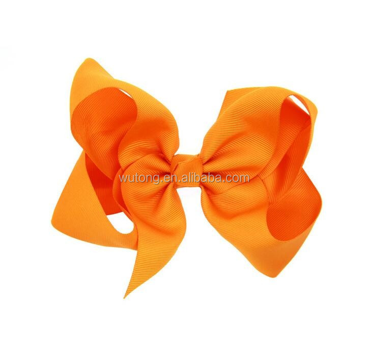 "Fashion 6"" Large Hair Bows With Clips For Childrens Handmade Grosgrain Ribbon Hairbow Baby Hair Bow Accessories 16 Colors"