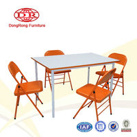 American Style Modern Metal Dining room furniture dining table and dining chairs