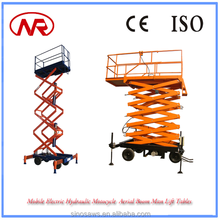 Mobile Electric Hydraulic Motocycle Aerial Boom Man Lift Tables