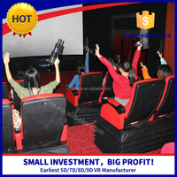 Woo!! Guangzhou 5D/7D/8D/9D/Xd Cinema 5D Moving Seat Theater Simulator