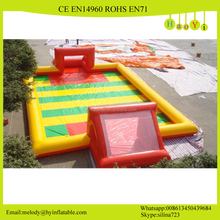 Custom interactive water football area/inflatable water football soccer area