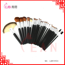 2017 new arrival synthetic hair cosmetic brush set wihth spot roller bag makeup brushes kit accept custom logo
