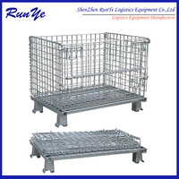 collapsible storage box more efficient stock control low cost wire mesh container offer better space utilization